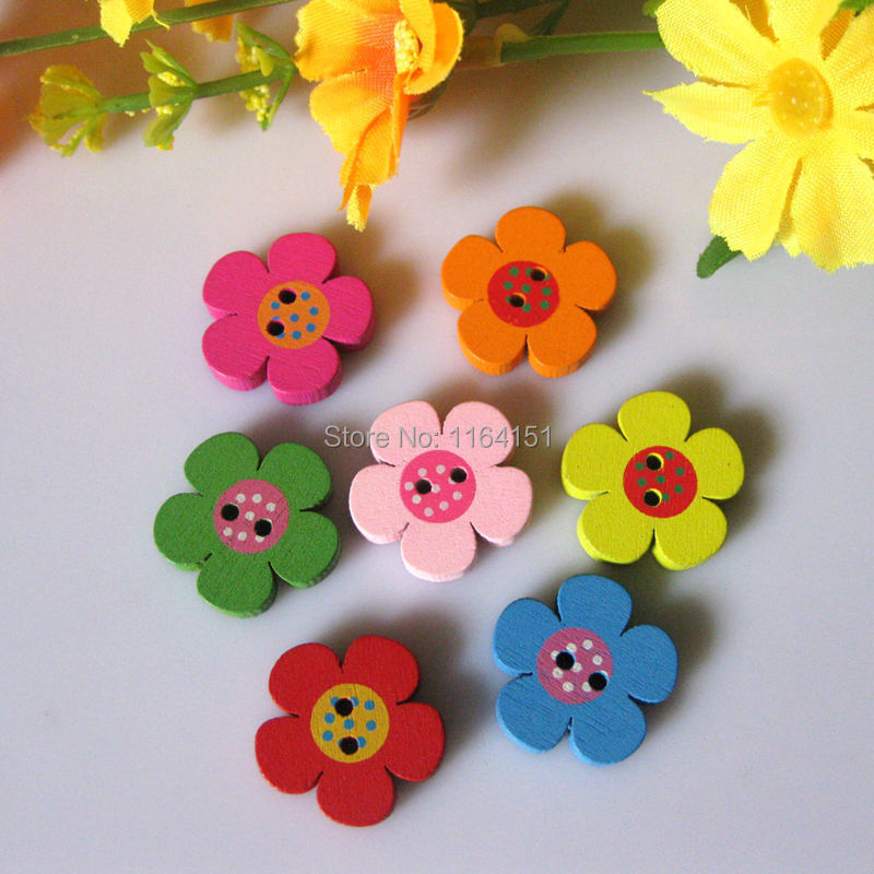 HuiYouHui 100 Pcs Willow Tree Graph Wooden Buttons Artistic Fashionable and Simple 2 Holes Round Craft for DIY Handmade Ornament Clothing Decoration Artwork Childrens Manual Button Painting 20mm
