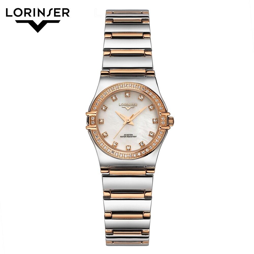 Women Watches Reloj Mujer Stainless Steel Watch Japan Quartz Ladies Wrist Watch Rhinestone Mother Of Pearl Watches Montres Femme