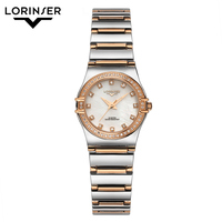 Women Watches Reloj Mujer Stainless Steel Watch Japan Quartz Ladies Wrist Watch Rhinestone Mother Of Pearl Watches Montres Femme