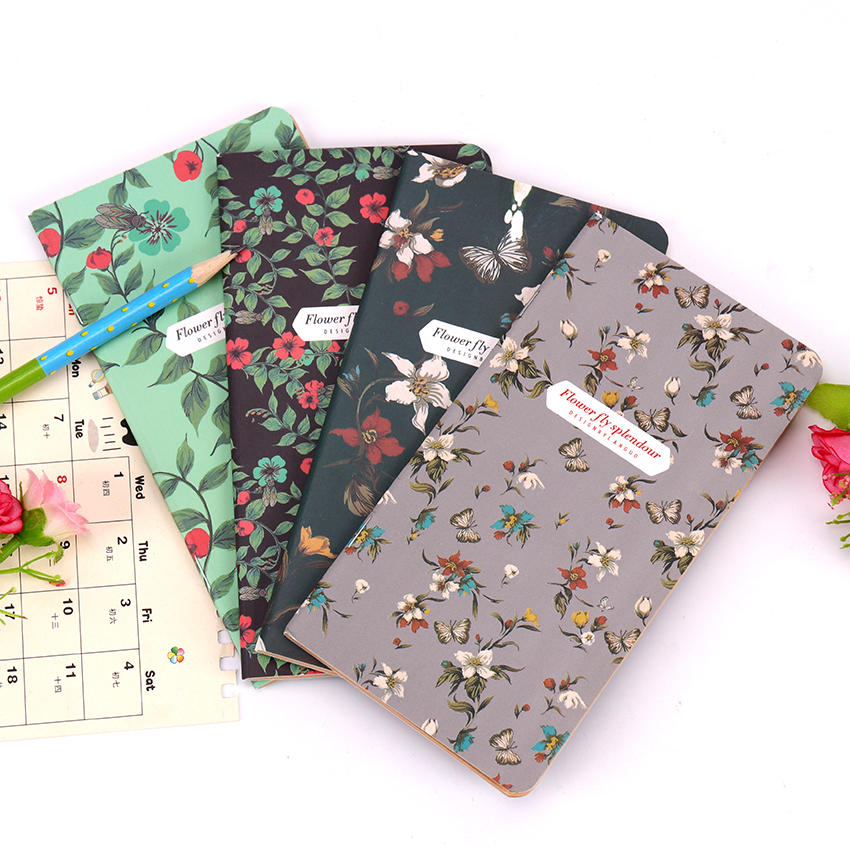 1 PC Retro Stationery Notepad Office Supplies School Butterflies Series Notebook Diary Book Students