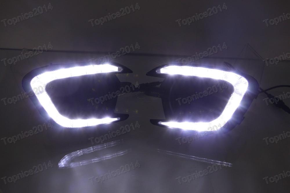 1Pair Skin Line LED Daytime Running Lights fog lamp DRL For Mitsubishi Pajero Sport 2013-2015 стоимость