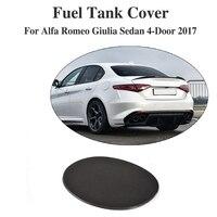 Carbon Fiber Oil Gas Fuel Tank Cap Protector Pad Cover Sticker for Alfa Romeo Giulia 4 Door 2017
