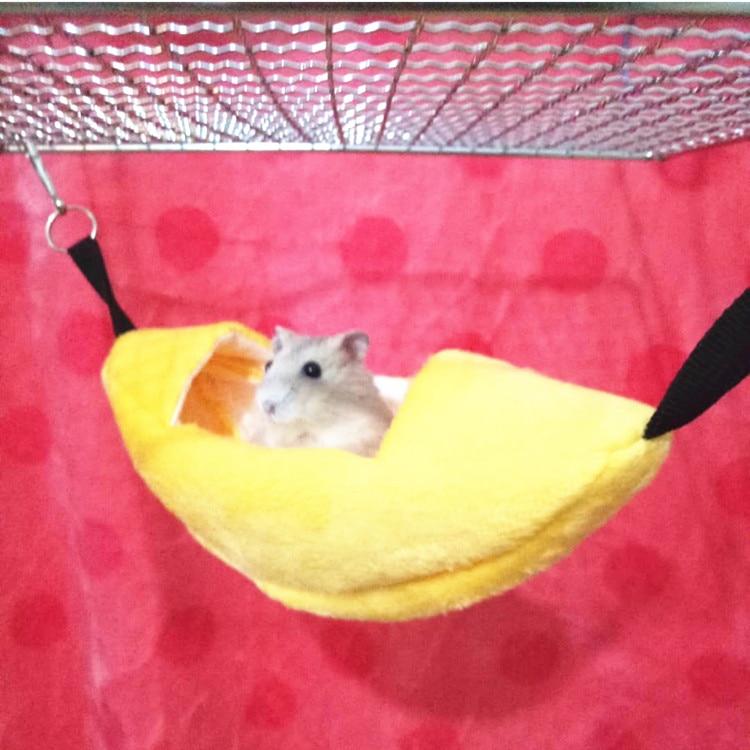 Pet Small Animals Sugar Gliders Yellow Banana Hanging Soft Bed House