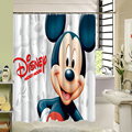 Cute Carton Mickey Mouse / Lion King Shower Curtain With High Quality Polyester Waterproof Mildewproof For Kids