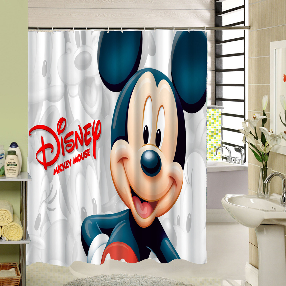 Cute Carton Mickey Mouse / Lion King Shower Curtain With High Quality  Polyester Waterproof Mildewproof For
