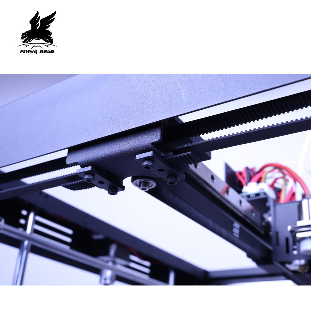 New Version Flyingbear Tornado 2 Pro large 3d Printer DIY Full metal Linear rail 3d printer Kit Precision double extruder-in 3D Printers from Computer & Office    2