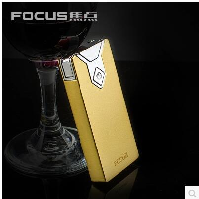 Focus USB rechargeable lighter creative personality arc thin font b cigarette b font lighter