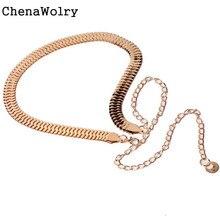 ChenaWolry 1PC Women's Fashion Luxury Elegant Women's Lady Fashion Metal Chain Pearl Style Belt Body Chain Oct 12