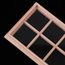 1/12 деревянная 8-Panel рамка для кукол дом двери части окна аксессуары ручной работы комнаты украшения предметов