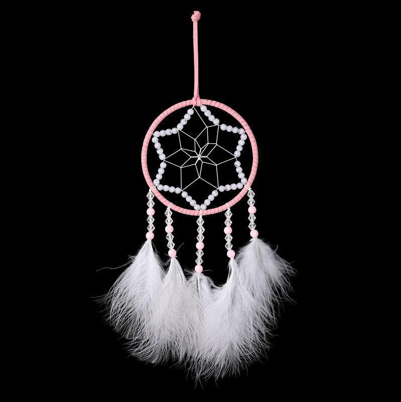 Car pendant ornaments protect peace bell feather dream catcher car birthday creative gifts