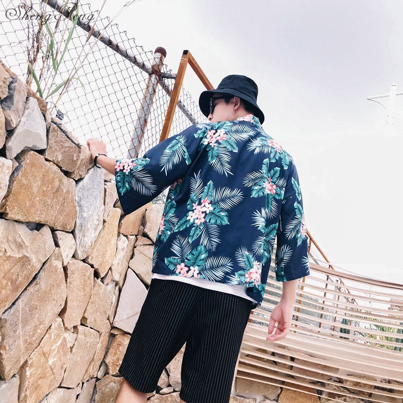 Kimono japonés para hombre kimono japonés tradicional yukata ropa tradicional china para hombre kimono cardigan G013 Kimono de satén para hombre japonés disfraz de samurai japonés dragón chino pijamas Haori ropa asiática vestidos de noche fiesta en casa Yukata