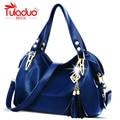 TULADUO 2016 Hot Selling Quality PU Leather Tassel Bag Shoulder Bags Women Messenger Bags Women Handbag Women Leather Handbags