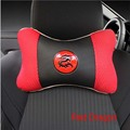 2016 New arrived sandwich pvc  1pc car styling  leather dragon logo headrest neck pillow seat cushion covers
