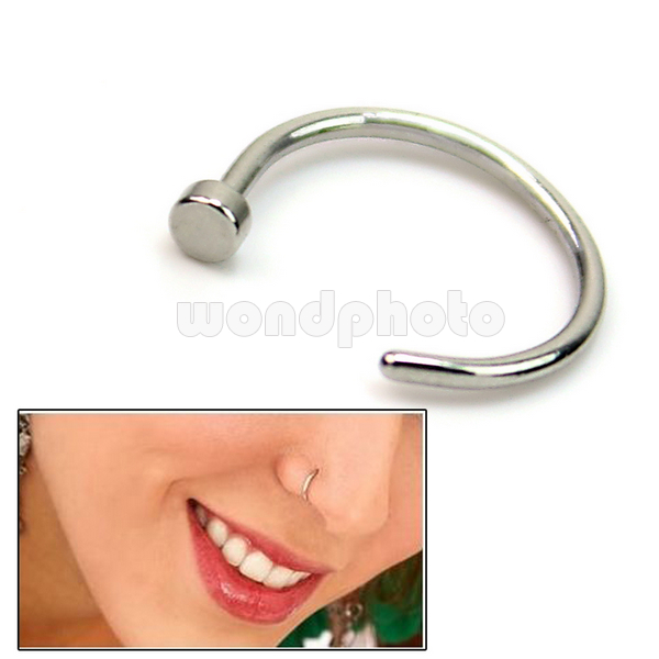Hot Sale Silver 316l Surgical Steel Nose Ring Hoop Piercing Stud