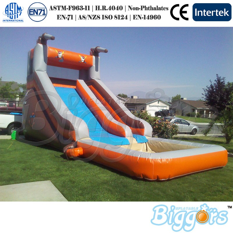 China Factory Price Inflatable Slide Water Slide With Pool For Sale china factory price new style inflatable air bouncer inflatable water trampoline for sale