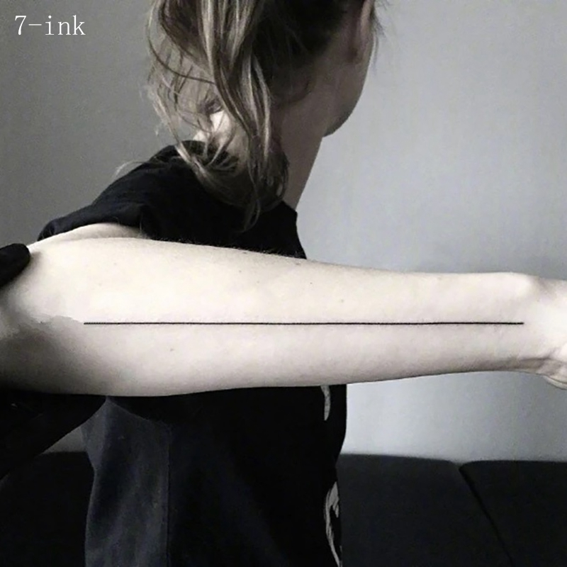 Temporary Tattoo Sticker Cool Stripe Streak Line Fake Back Leg  Arm Tattoo  Water Transfer Fake Tattoo Flash Tatto For Women Men