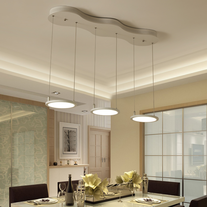 led chandelier Restaurant Chandelier bar lamp Nordic modern dining room three simple lamps study cafe chandelier цена