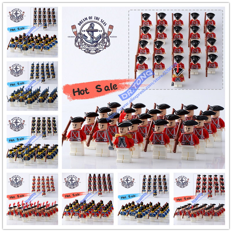 DR.TONG 21PCS/LOT Pirates of the Caribbean BritainRoyal Navy Figures Building Blocks Brick Toys loz pirates of the caribbean jack salazar mini blocks brick heads figure toy assemblage toys offical authorized distributer
