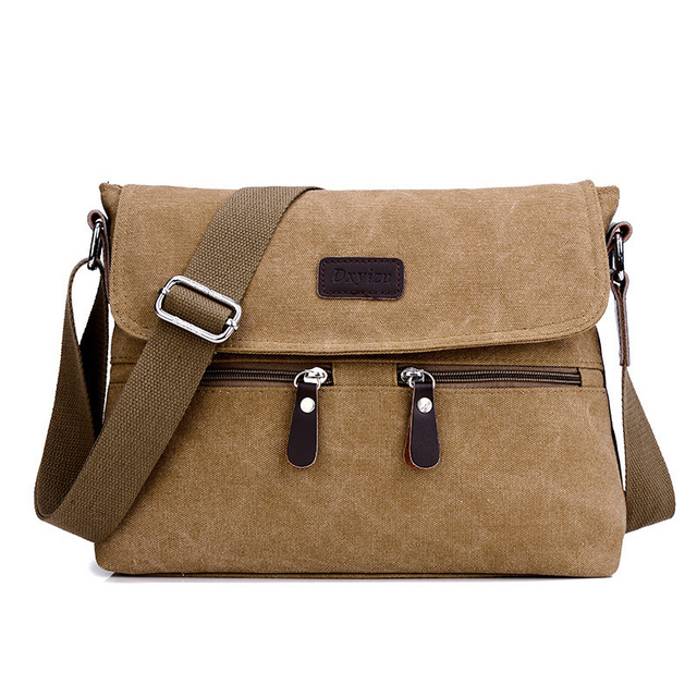 75906f414eb6 Canvas Shoulder Hand Bag Zipper Shoulder Bag For Men Solid Men Handbags  Casual Small Male Tote Pack Large Space Handbag