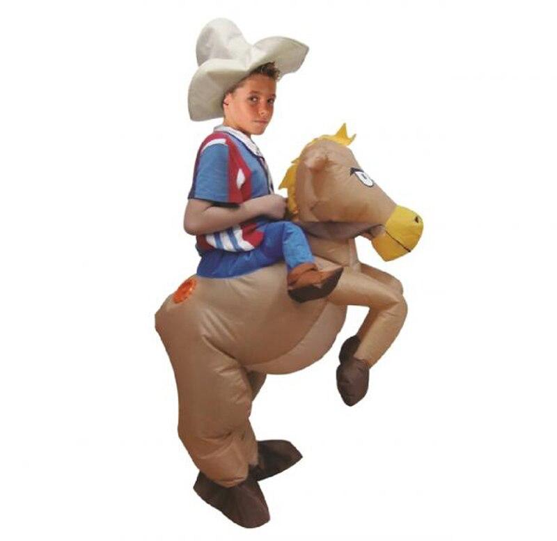 Vestito Gonfiabile Equitazione Operato Costume Cowboy Adulto Del xpqRXv