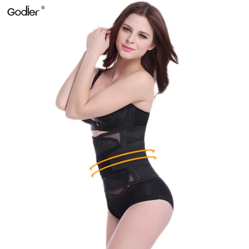 582789ef42c Godier Women Slimming Belt Breathable Cummerbund Waist Cincher Modeling  Strap Modeling Girdle Belly Shapers Waist Straps