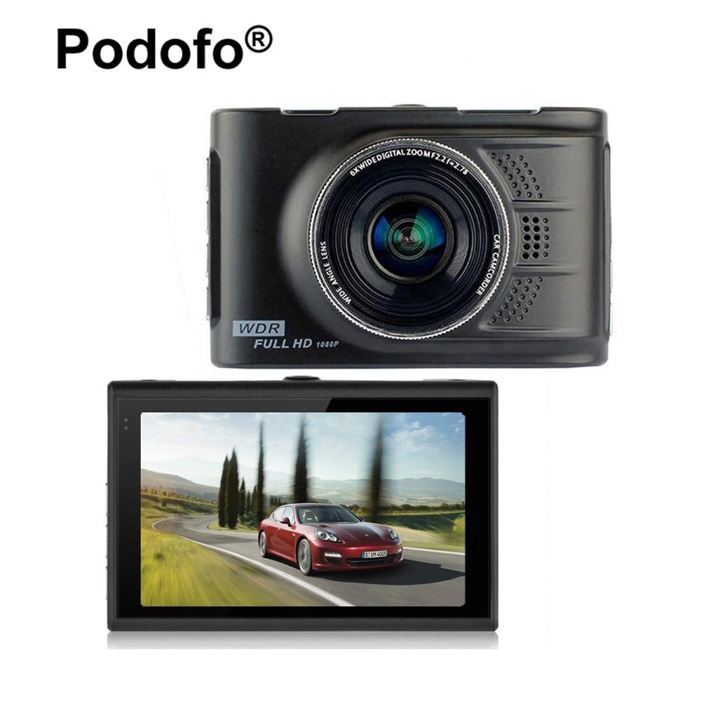 Podofo Original Novatek 96223 Car DVR Camera Dashcam FHD 1080P 3.0 Registrator Video Recorder 170 degree WDR G-sensor Blackbox