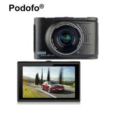 """Podofo Original Novatek 96223 Câmera Dashcam DVR Carro FHD 1080 P 3.0 """"Gravador de Vídeo Registrator 170 graus WDR G-sensor de Blackbox"""