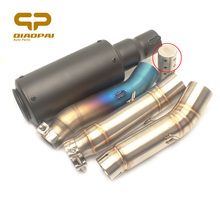 Motorcycle Exhaust System Muffler Link Pipe Silencer 51MM Escape Moto DB Killer For Honda CBR500 CBR300 CBR 300R 500 Akrapovic akrapovic motorcycle exhaust db killer exhaust muffler and stainless steel middle link pipe whole set for honda cbr500 300r