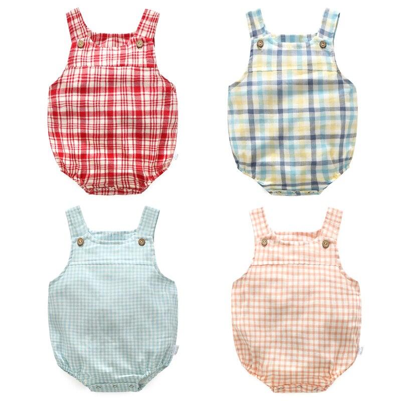 New Design   Romper   Newborn Baby Cotton Ruffle   Romper   Girl Summer Style Clothing Photo Props Lattice Thin Cotton Vest Girl Clothes