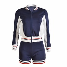 Full Sleeve O-Neck Tops Short Pant 2 Piece Set Ladies Autumn Casual Outfit Tracksuits Women Sportwear Two-piece Sets Fall Suits