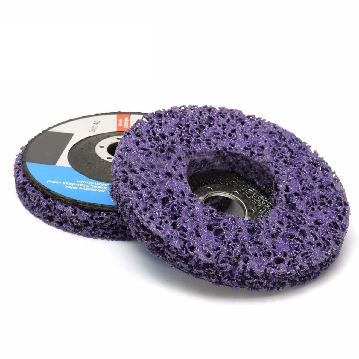 2 шт. mayitr Поли полосы диск абразивный колеса Краски удаления ржавчины чистить 125x22 мм для Болгарки