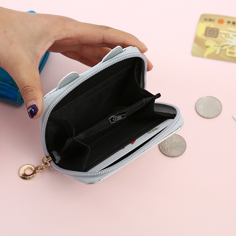 Cute Cat Coin Purses Cartoon Lovely Mini Storage Bags Small Zip Bag For Women