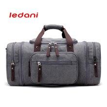 Llevar bolsas de equipaje de cuero de lona Hombres Bolsas de viaje Totalizador de viaje Gran fin de semana Bolsa de hombres Bolsos de lona