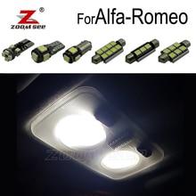 Идеальный Белый светодиодный купольный светильник для салона Alfa Romeo Giulietta Mito автомобиль Brera GT Spider 147 156 159 166