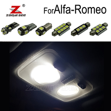 100% Perfetto Bianco Free error LED interno della lampadina della cupola mappa luce Kit per Alfa Romeo Giulietta Mito Brera GT Spider 147 156 159 166