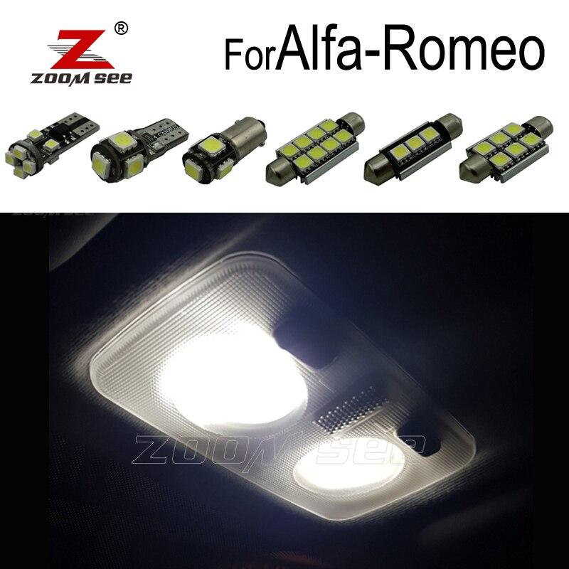 100% Perfeito Branco Erro Free LED Kit lâmpada interior dome mapa luz para Alfa Romeo Mito Giulietta Brera Aranha GT 147 156 159 166