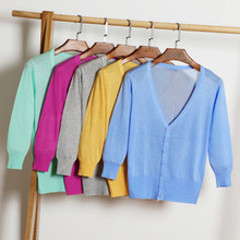 Newest Knitted Cardigan Women 2019 Spring Autumn Long Sleeve Sweater Female Single Button Pull Femme 21 colors