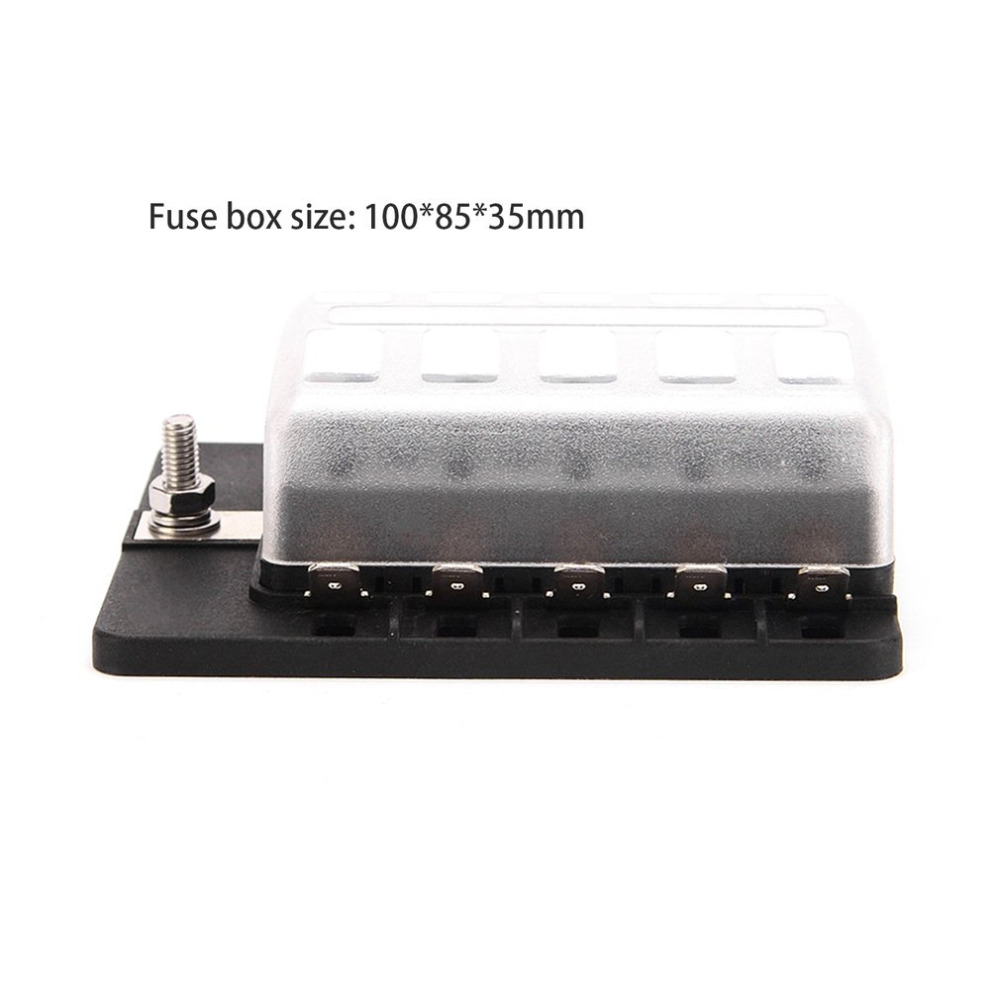 small resolution of 10 way fuse terminals holder box dc 32v circuit bus ship car auto examination blade fuse blocks with led indicator light in fuses from automobiles