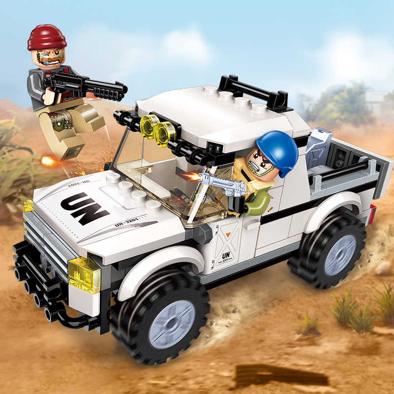 Enlighten Building Block Peacekeeping Force Thunder Mission Sting's Assaulted 2 Figures 128pcs Educational Bricks Toy For Boy