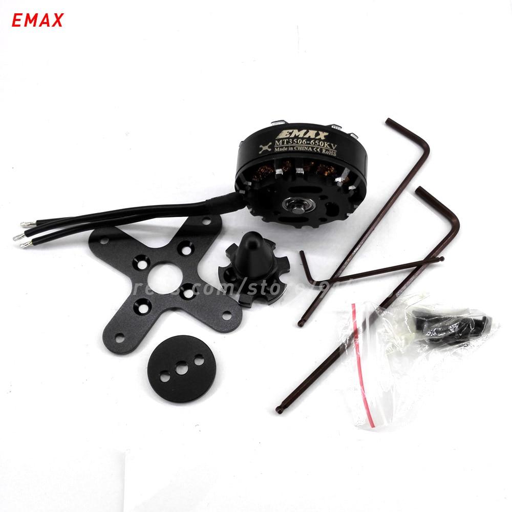 2pcs(1pcs CW+ 1pcs CCW) EMAX MT3506 rc quadcopter brushless 650kv motor outrunner multi axis copter 4mm shaft drone accessory 2017 dxf sunnysky x2206 1500kv 1900kv outrunner brushless motor 2206 for rc quadcopter multicopter