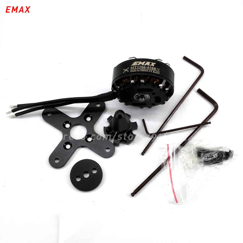 EMAX MT3506 rc quadcopter brushless 650kv motor outrunner multi axis copter 4mm shaft 41.5mm for helicopter drone accessory  цены