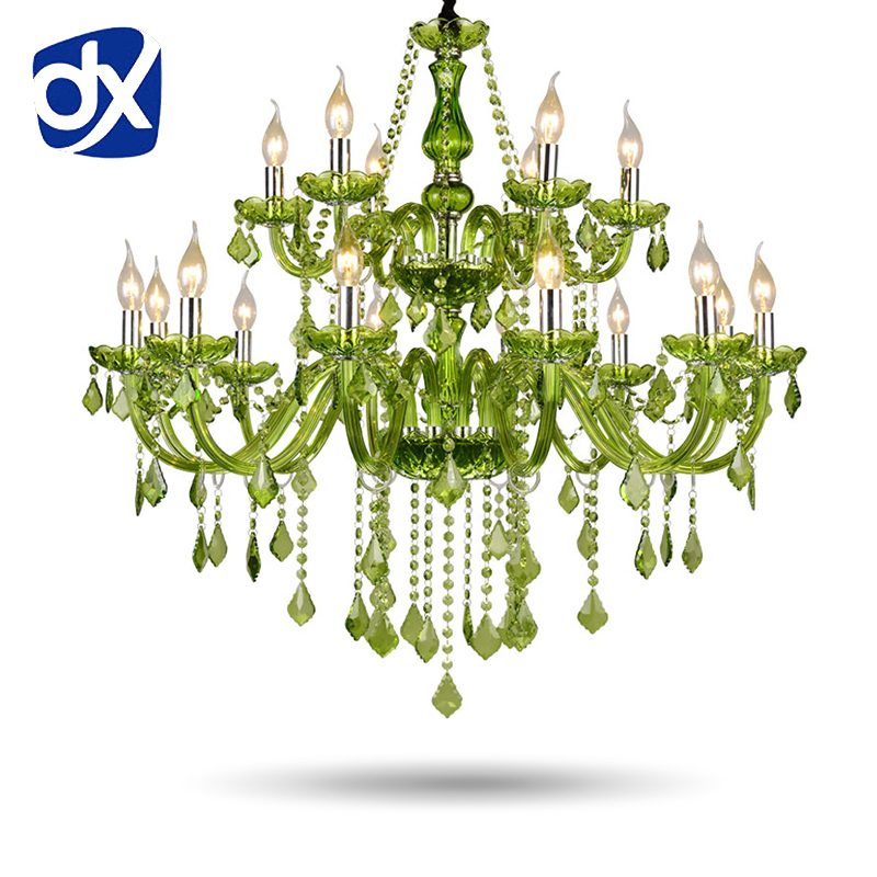 newly red k9 crystal chandelier lustre crystal chandelier optional lustres de cristal chandelier ac guaranteed free shipping Green Crystal Chandelier Lustre Crystal Chandelier 6/8/10/12/15/18 Arm Optional Lustres De Cristal Chandelier Green Living Room
