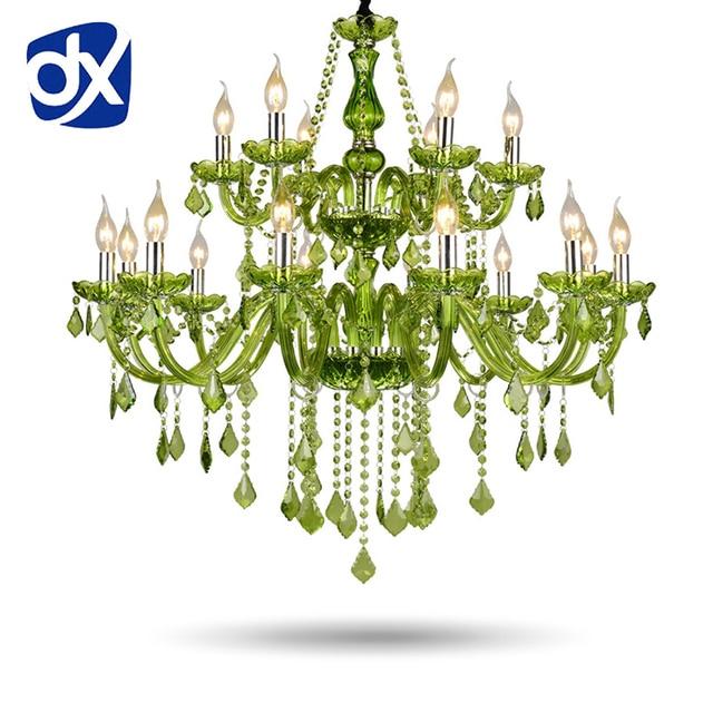 Green Crystal Chandelier Re 6 8 10 12 15
