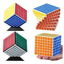 ShengShou Mini 7x7 Puzzle Cube Professional PVC&Matte Stickers Cubo Magico Puzzle Speed Classic Learning & Educational Toy shengshou cube 2 x 2 x 2 mini cube black base fun educational toy
