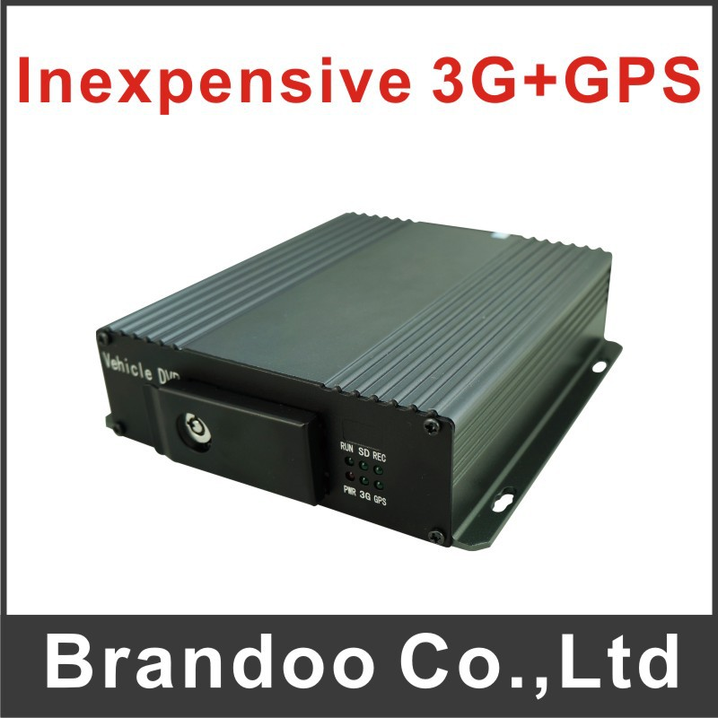 4 channel BUS DVR, support 3G and GPS, works with 128GB sd memory, D1 resolution