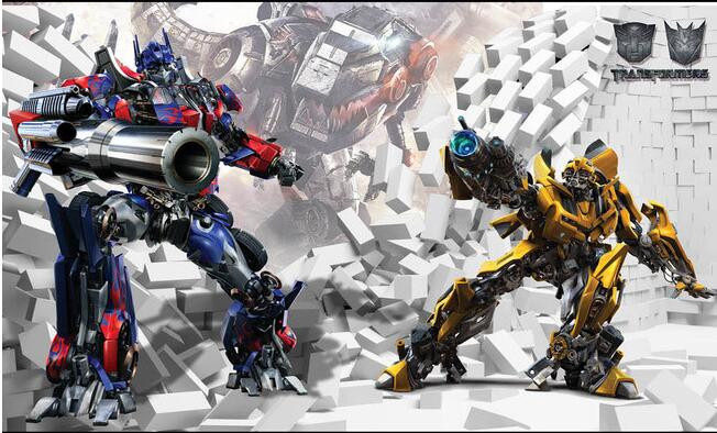 3d Cartoon Children's Room Transformers 5 Boy Bedroom Wallpaper Custom Mural Internet Cafe Background Wall Paper