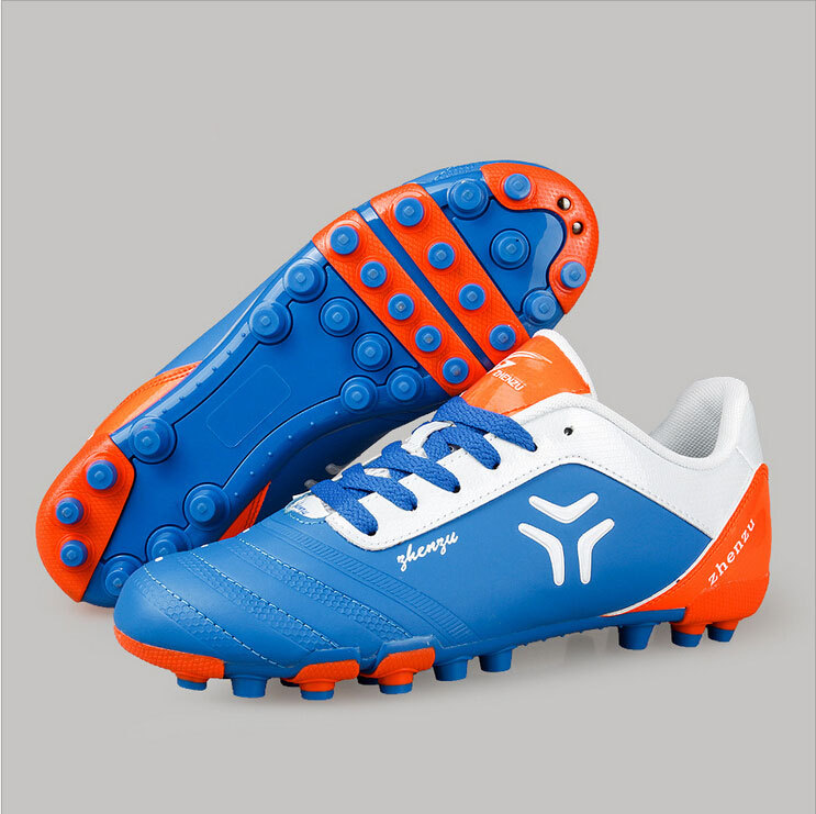 b860697d3 AG Football Boots 2015 Artificial Grass Men's Soccer Shoes PU 35-44  Training Sports shoes Youth 3 color soccer Spike chuteiras