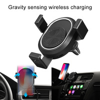 New Hot Gravity Car Mount Phone Holder Wireless Charger Air Vent Mount Clip for Universal Phones NV99