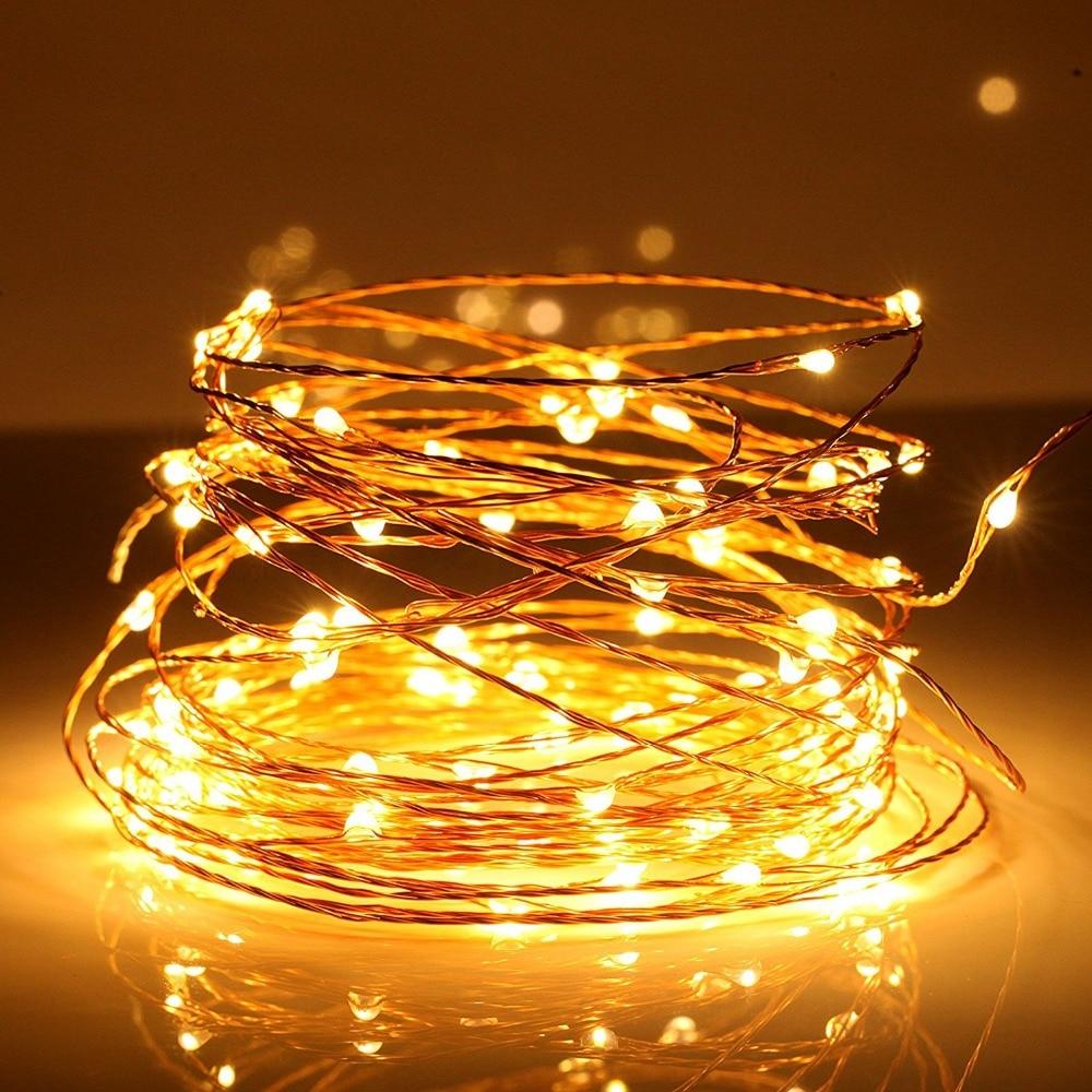 Cute LED String Lights,10m 5V USB 100 LEDs Silver Copper Wire LED Starry light 33ft LED  ...