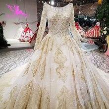 AIJINGYU חתונה שמלת שמלות ליד לי אלגנטי לבן כלה אסיה בציר המדינה צועני סגנון אמיתי מחיר אמא של הכלה
